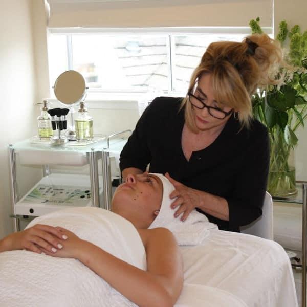 Tammy Grune Esthetician skin care consultation Aptos